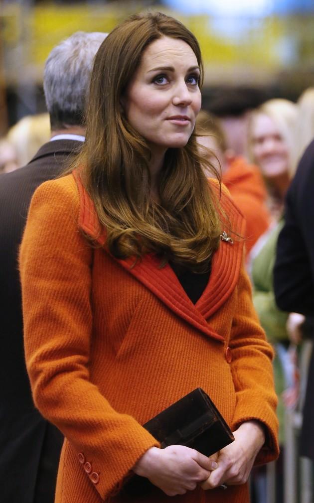 Kate Middleton Orange Coat