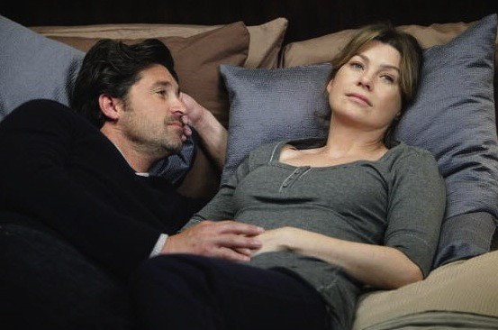 Meredith and Derek on Grey's Anatomy