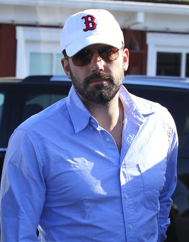 Ben Affleck with a Red Sox Hat