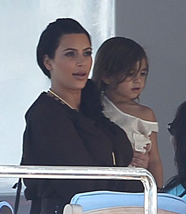 Kim Kardashian and Mason Dash
