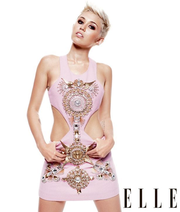 Miley Cyrus for Elle UK