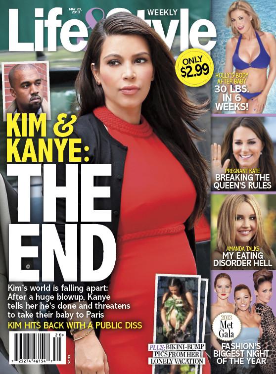 Kim Kardashian Breakup Cover