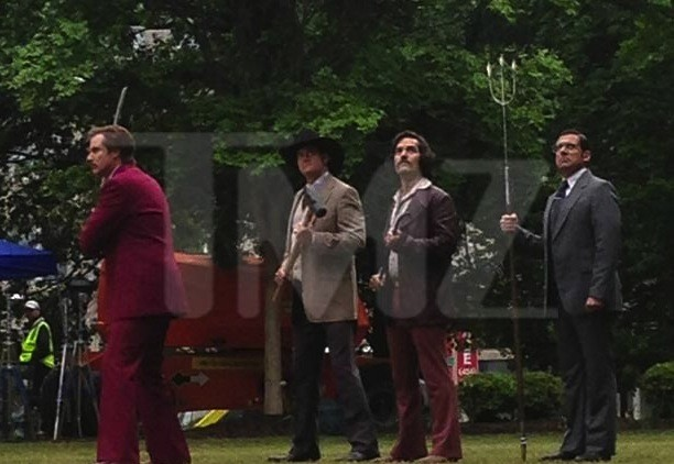 Anchorman 2 Brawl Set Photo
