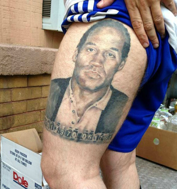 O.J. Simpson Tattoo