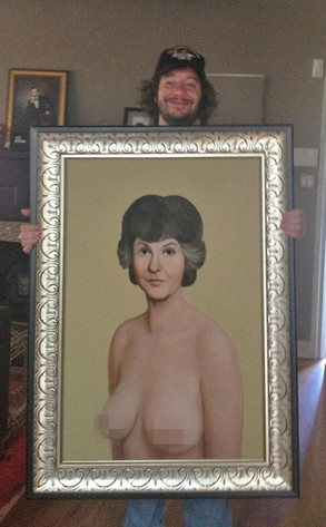 Jeffrey Ross with Bea Arthur Nude Painting