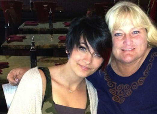 Paris Jackson and Debbie Rowe