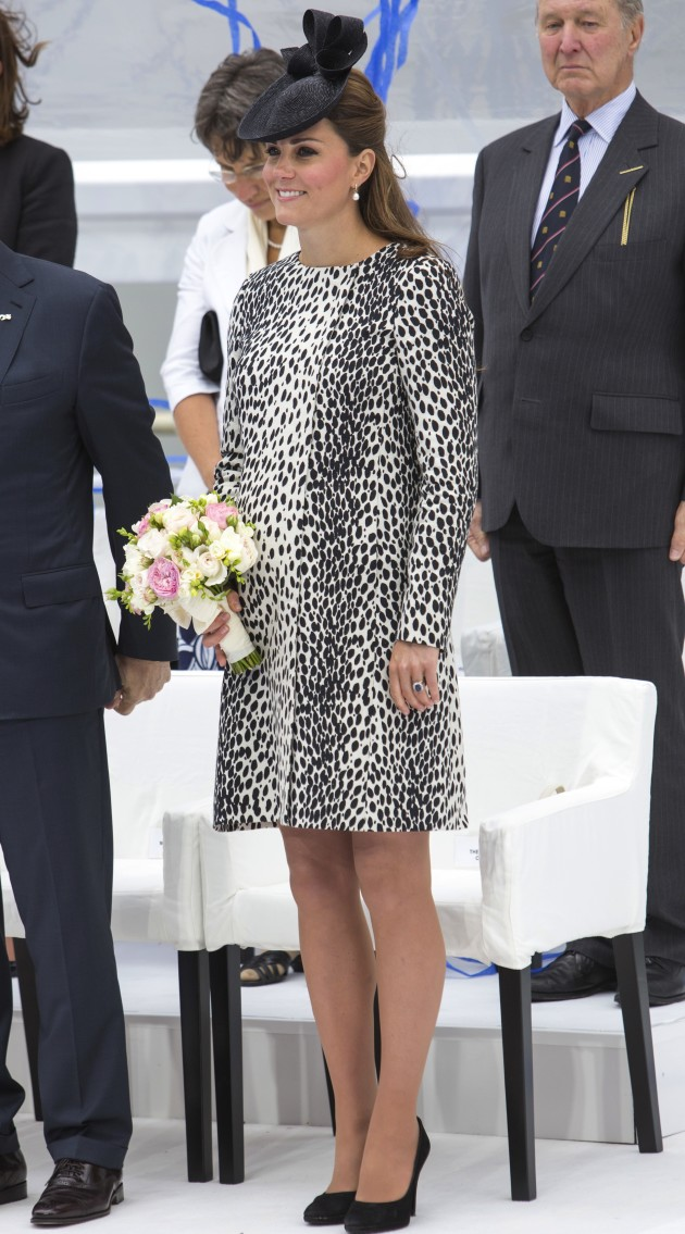 Kate Middleton Black, White Dress