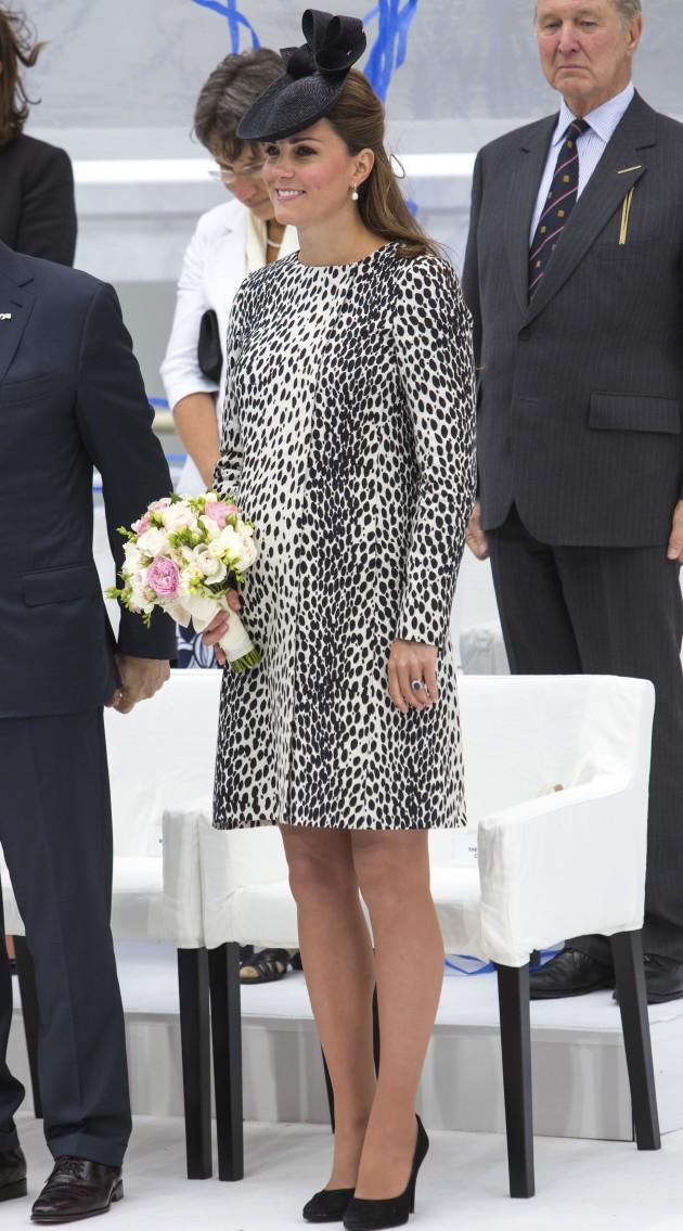 Kate Middleton Black, White Dress