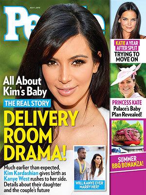 Kim Kardashian Baby People Cover