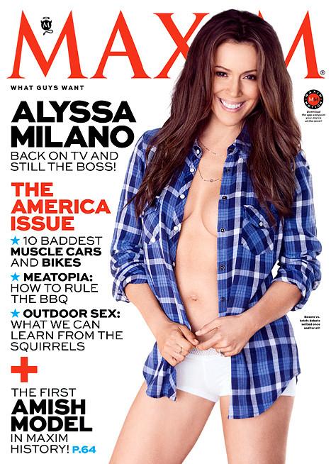 Alyssa Milano Maxim Cover