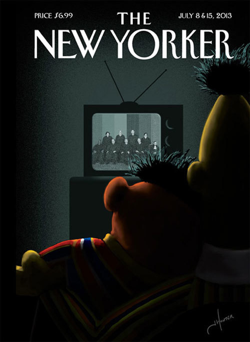 Bert and Ernie New Yorker Cover