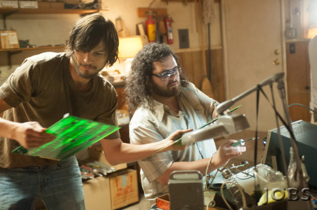 Ashton Kutcher and Josh Gad in Jobs photo