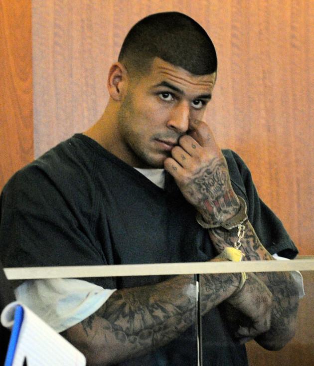 Aaron Hernandez Handcuffs