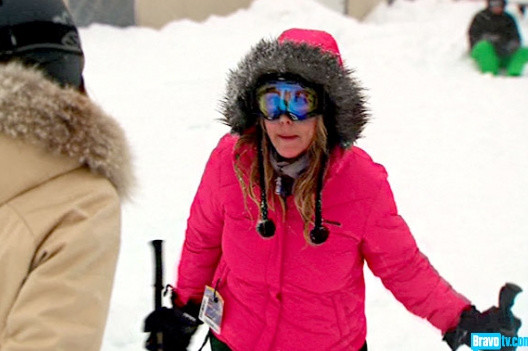 Vicki Gunvalson Shouting On The Slopes
