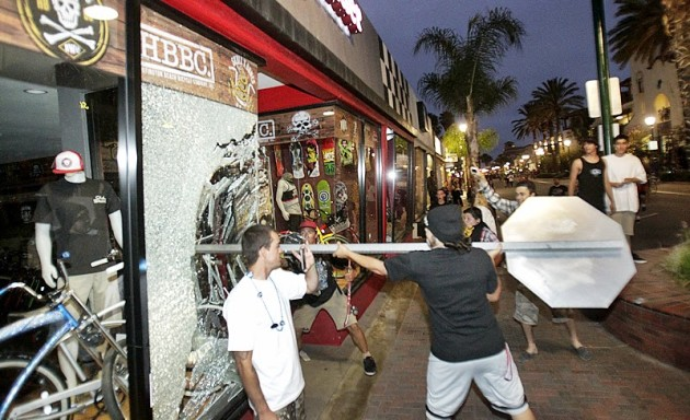 Huntington Beach Riot Photo