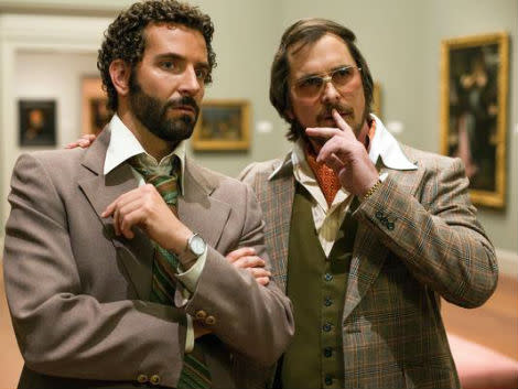 Bradley Cooper and Christian Bale in American Hustle