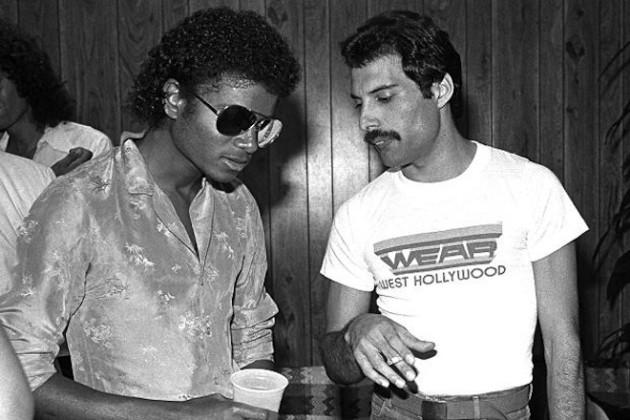 Michael Jackson and Freddy Mercury