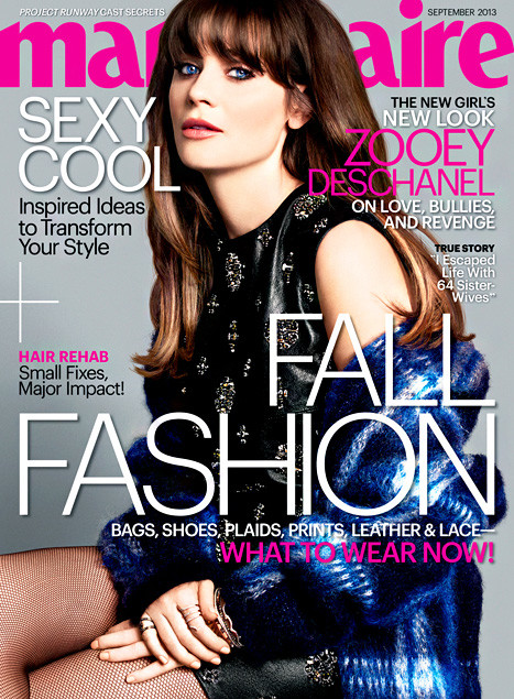Zooey Deschanel Marie Claire Cover