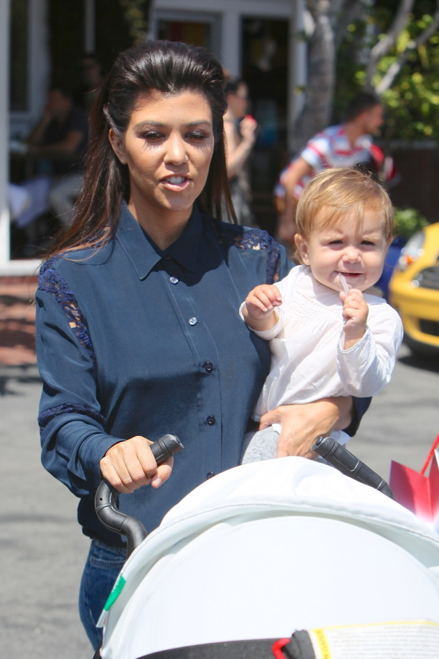 Kourtney Kardashian with Daughter