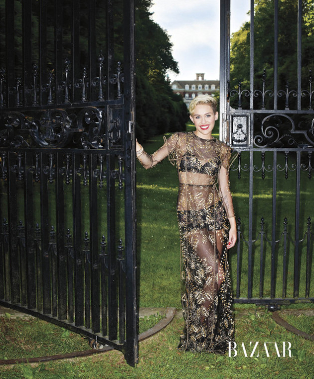 Miley Cyrus in Harper's Bazaar