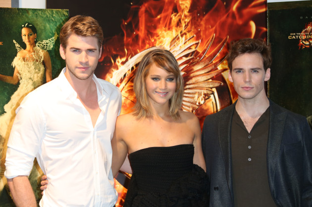 Liam Hemsworth,Jennifer Lawrence and Sam Claflin