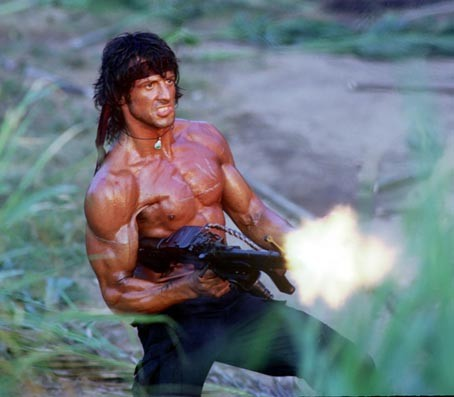 Stallone as Rambo