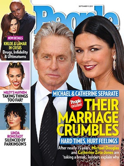 Michael Douglas and Catherine Zeta-Jones Cover