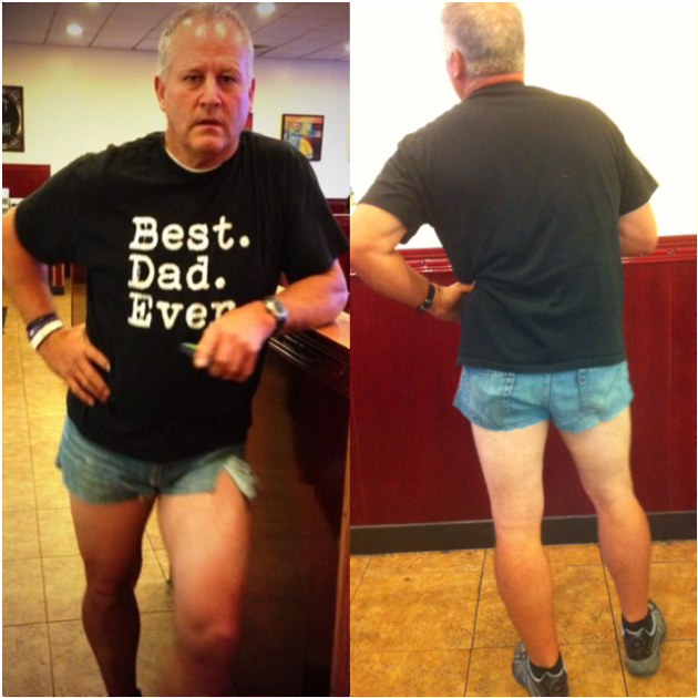 Scott Mackintosh Wears Short Shorts