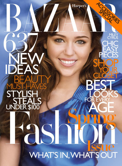 Old Miley Cyrus Harper's Bazaar Cover