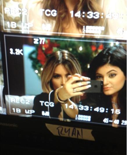 Kim Kardashian Set Selfie