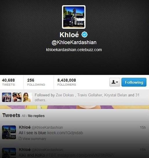 Khloe Kardashian Twitter Profile