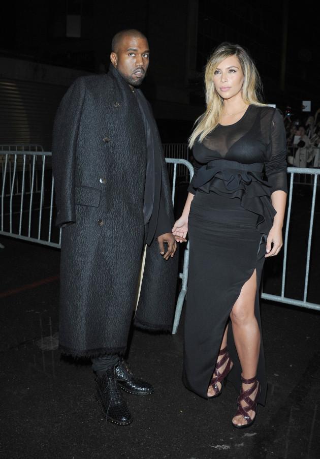 Kim, Cleavage, Kanye