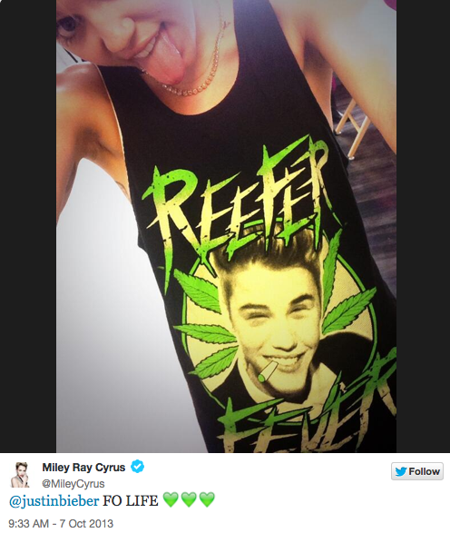 Miley Cyrus Reefer Fever Shirt