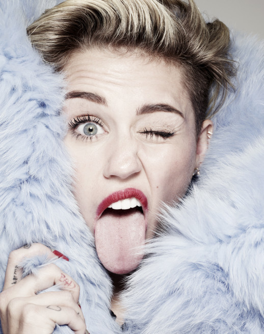 Miley Cyrus Strikes a Pose