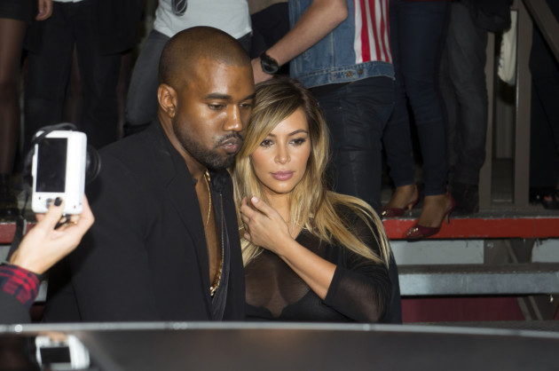 Kanye West and Kim Kardashian Image