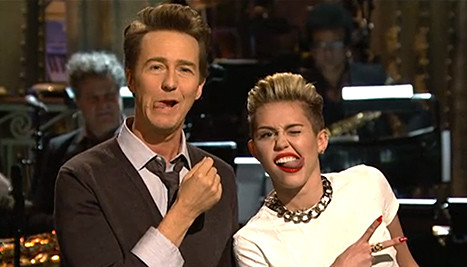 Edward Norton and Miley Cyrus