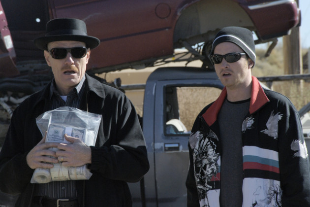 Walter White and Jesse Pinkman