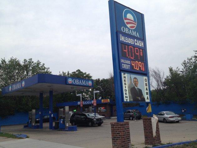 Obama Gas Station