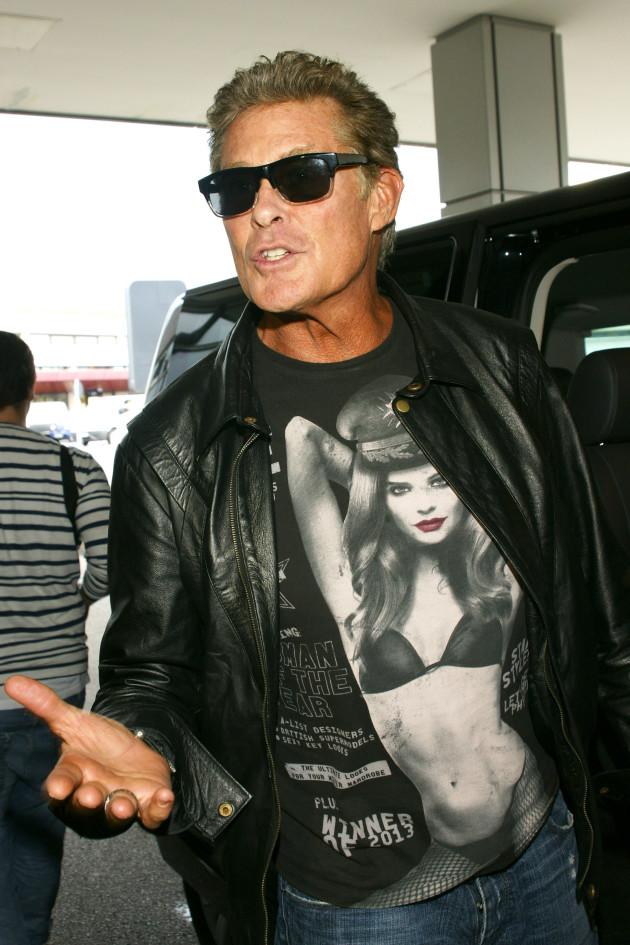 David Hasselhoff at Tegel Airport