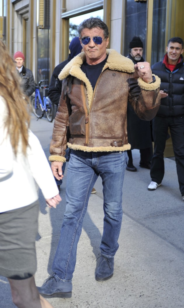 Sylvester Stallone on the Street