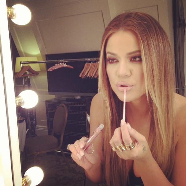 Khloe Kardashian as a Blonde
