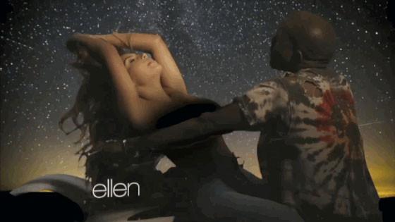 Kim Kardashian Topless on a Motorcycle