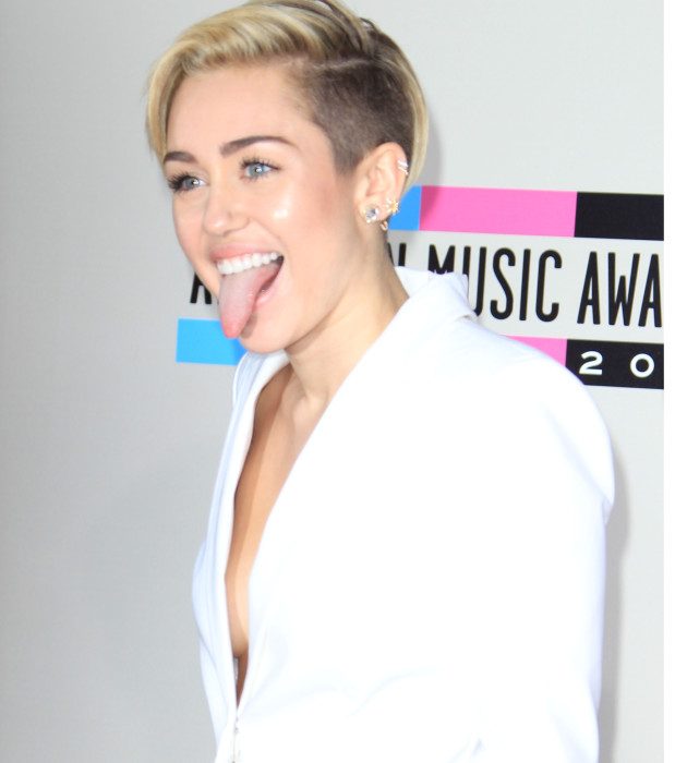 Miley Cyrus with Her Tongue