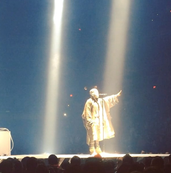 Kanye West on Stage