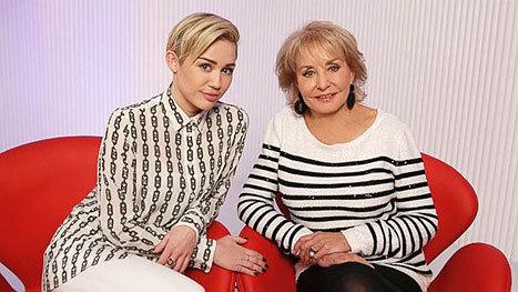 Miley Cyrus and Barbara Walters