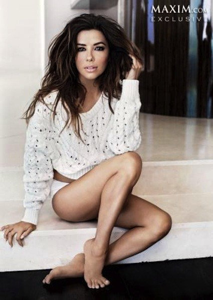 Eva Longoria Poses for Maxim