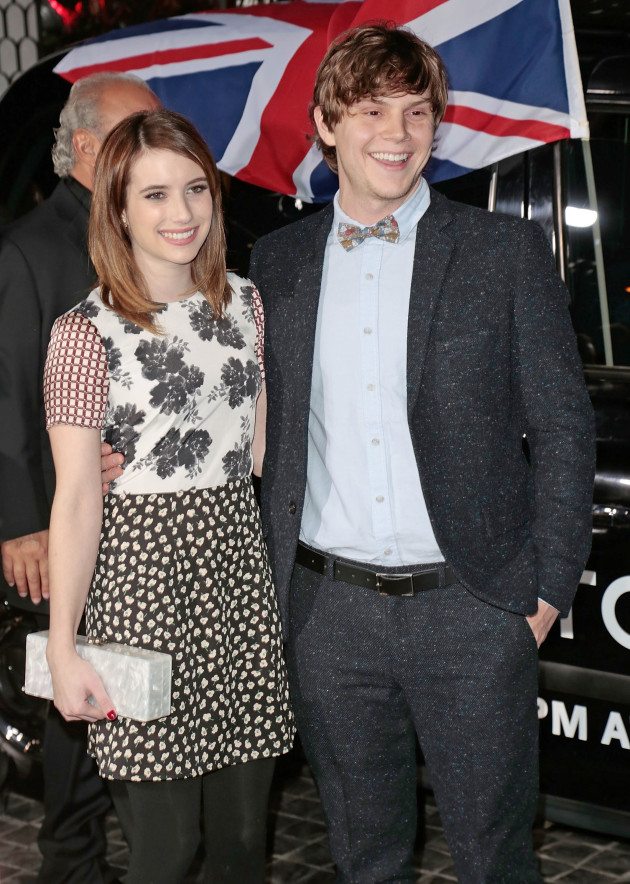 Evan Peters and Emma Roberts