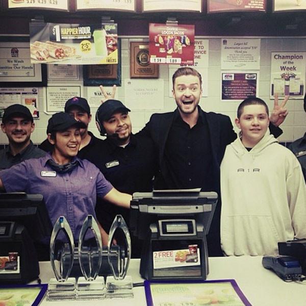 Justin Timberlake at Taco Bell