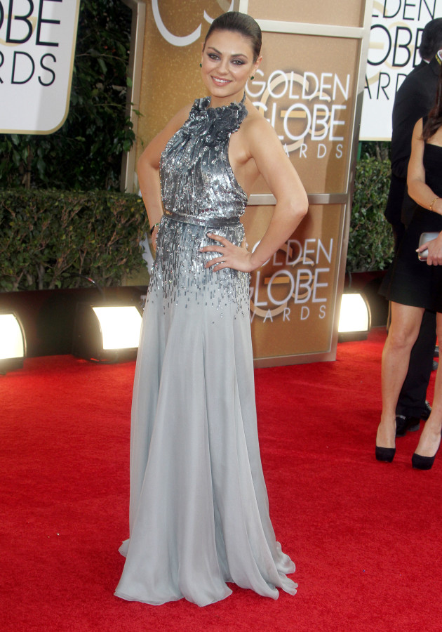 Mila Kunis at 2104 Golden Globes