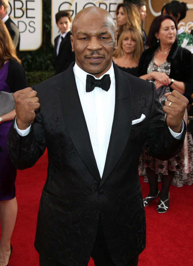Mike Tyson at the Golden Globes